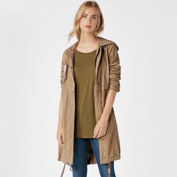 JustFab Jackets & Blazers - Hooded Trench Coat